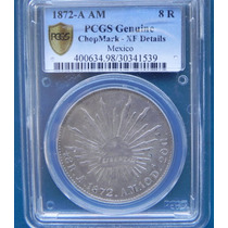 Moneda México 8 Reales Alamos Am 1872 Xf Pcgs Certificada