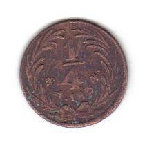 1 Cuarto De Real 1834 Mexico República Mexicana - Vbf
