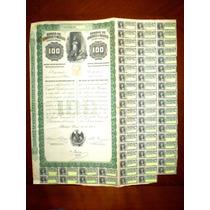 Bono Banco De Londres Y Mexico 100 Pesos 1905 !!