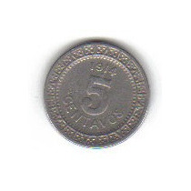 5 Centavos 1914 México Revolución Mexicana Victoriano Huerta