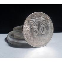 Moneda De 50 Centavos Resplandor Plata Ley 0.720 Bonitos