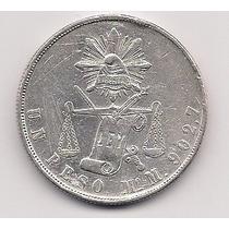 Super Ganga Peso Balanza De Mexico, Año 1871.plata 0.903