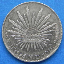 Moneda 8 Reales Durango 1895 N D Plata Excelente