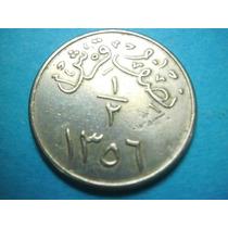 Arabia Saudita 1/2 Ghirsh Fecha 1359 Niquel
