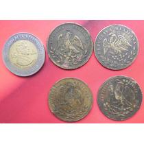 Botones Militares Mexico 1800 Diferentes Aguilas Bronze