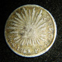 Moneda Medio 1/2 Real 1852 Go Guanajuato Plata Republica %