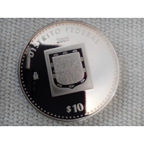 Moneda Escasa De Estados D.f. Onza Plata 100 Pesos
