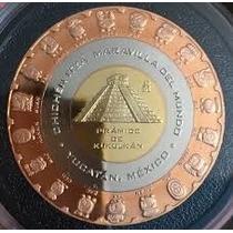 Preciosa Moneda Trimétalica De Chichén Itza Cultura Maya