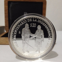 Moneda José Ma. Morelos Y Miguel Hidalgo 2 Onzas Plata Proof