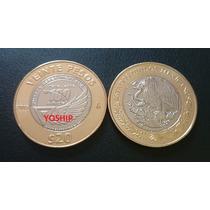 Moneda 20 Pesos Fuerza Aerea Mex 2015 Nueva Y Encapsulada Cm