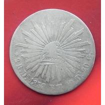 Moneda Mexico 2 Reales Durango Año 1338 Aguila Muy Escasa
