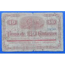 Billete México Bono De 40 Centavos Guanajuato