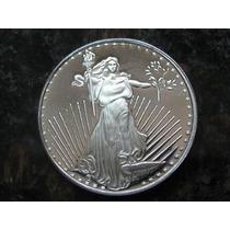 1 Onza De Plata Pura Ley .999 Standing Liberty Silver Towne