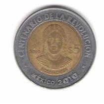 Moneda De $5 Pesos La Soldadera Y Cartera Reciclada Dedolar