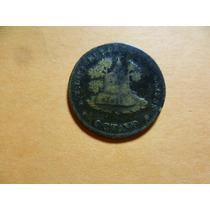 Antigua Moneda De 1/8 R. Zacatecas Año 1858..