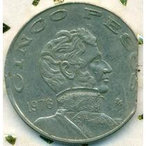 5 Pesos 1976 Fin De Riel