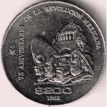 Moneda Conmemorativa 75 Aniv. Revlon,$ 200 Niquel A $100 Op4