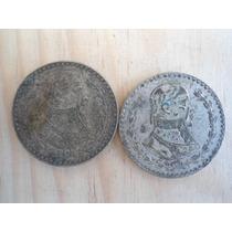 2 Monedas De 1 Peso Morelos 1961&1962