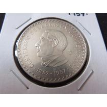 Moneda 10 Pesos Centenario Constitucion 1857-1957 Ley.900