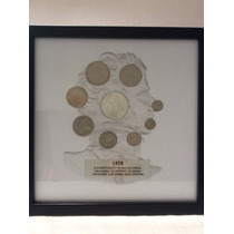 Set Juego De Monedas 1978 Uc Cuadro 100 Pesos Plata