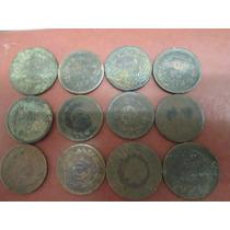 Lote Monedas Antiguas De Cobre