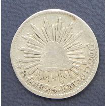 Moneda Mex 1/2 Real 1825 M Moneda Mula Aguila De 1/2 Escudo