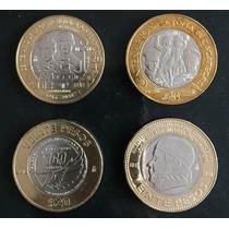 Mexico 2014-2015 $20 Conmemorativas 4 Monedas Nuevas Escasas