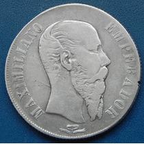 Moneda 1 Peso San Luis Potosi 1866 Escasa 27.0 Gramos Plata