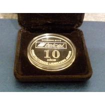 Medalla Celebracion De Los 10 Años De Telcel En Mexico Plata