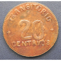 Monedas 20 Centavos Brigada Francisco I Madero 1915 Cobre