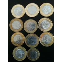 Coleccion De 11 Monedas De 20 Y 10 Pesos Conmemorativas