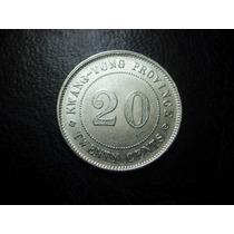 China Provincia De Kwang-tung 20 Centavos Plata