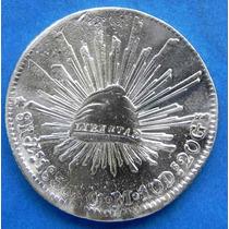 Moneda De 8 Reales Plata Zacatecas 1835 O M Excelente
