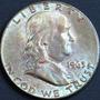 Aaaa 1963 D Franklin Half Medio Dolar 50c Rara Au+ Plata Kno