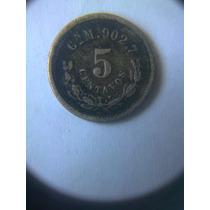 Moneda Antigua 5 Centavos 1897 Cn