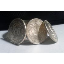 Moneda 20 Centavos Resplandor Plata Ley 0.720