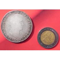 Moneda Mexico 8 Reales Agustin De Iturbide 1822 Plata Org