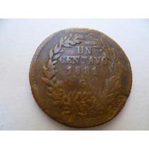 Antiguo Centavo De El Año De 1881 Ga. Mexicano