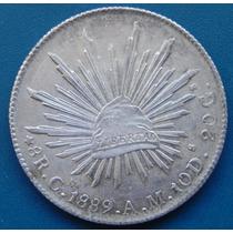 Moneda México 8 Reales Culiacan 1889 A M