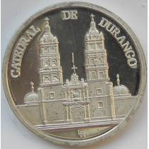 Medalla Mexico 420 Anv Fundacion De Durango 1 Onza Plata