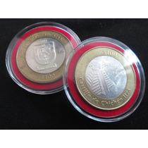 Moneda Plata Yucatan 100 Pesos Piramide Y Escudo