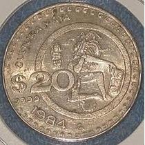 Moneda De 20 Pesos De 1982, Cultura Maya, Nickel