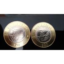 Moneda Fuerza Area Mexicana 100 Años 20 Pesos
