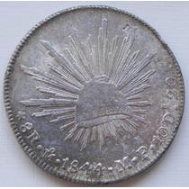 Moneda 8 Reales Mexico 1844 M F Escasa Original Plata