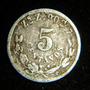 5 Centavos 1898 Primera Fecha Aguila Estilizada %