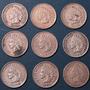 9 Centavos 1900 Hasta 1908 Eeuu Indio Moneda Rara Lote Ipd