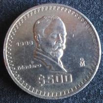 Moneda Antigua De 500 Pesos Madero México 1986
