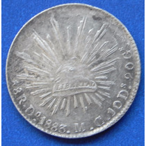 Moneda México Durango 8 Reales 1833 M G