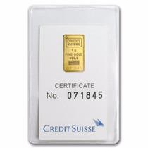 Crédito Suizo 1 Gramo Oro Puro .9999 Con Certificado.