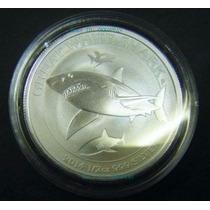 Edicion Especial !! Moneda Plata 1/2 Oz Tiburon Blanco !!